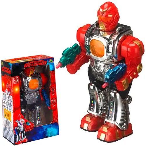 Brinquedo Infantil Robô Guerreiro Do Espaço