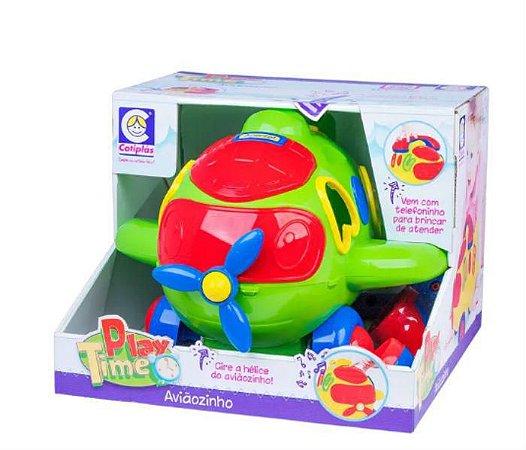 Brinquedo Infantil Educativo Aviaozinho C Som Luz Encaixes