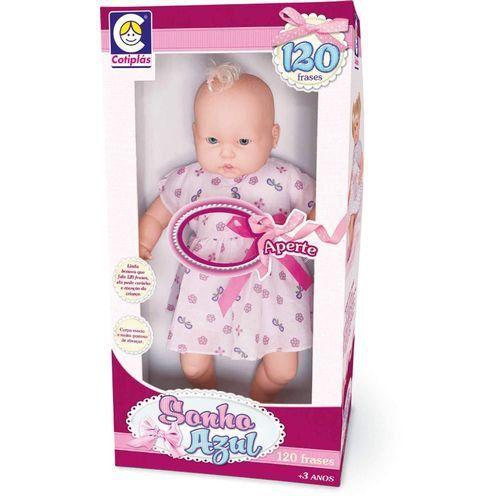 Boneca Infantil Sonho Azul 120 Frases