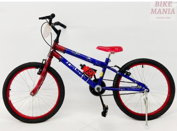 Bicicleta Aro 20 Homem Aranha com Garrafinha de Brinde.