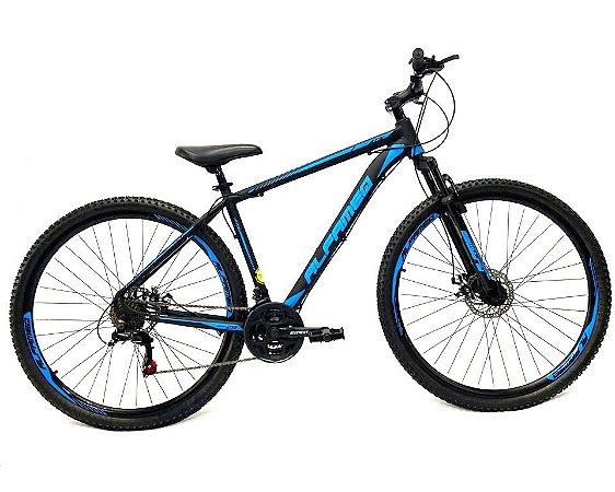 Bicicleta Aro 29 Mountain Bike Alfameq Cambios Shimano Azul