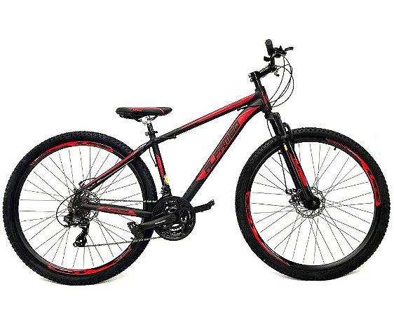 Bicicleta Aro 29 Mountain Bike Alfameq Cambios Shimano Vermelho