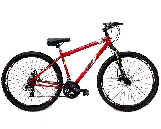Bicicleta Aro 29 Mountain Bike Freio A Disco Gts Vermelha