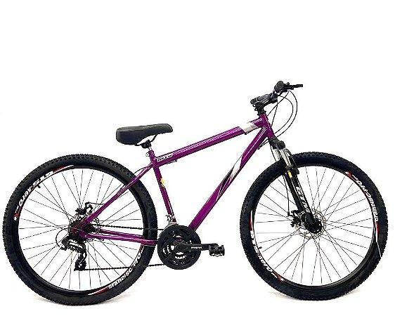Bicicleta Aro 29 Mountain Bike Freio A Disco Gts Violeta