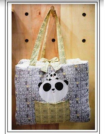 Colchonete de Passeio Panda Cinza - Coração de Mãe