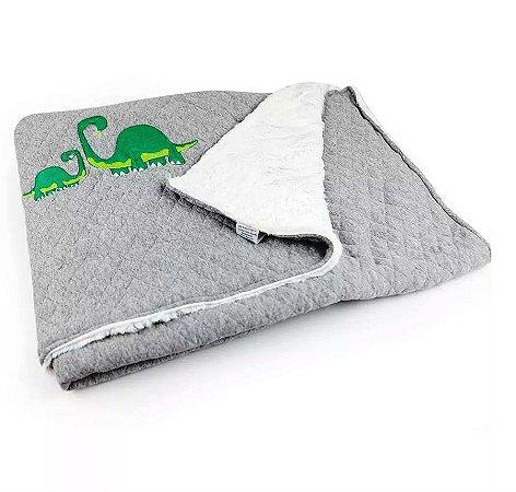 Cobertor Matelassê com Pelúcia Mamute - Coração de Mãe
