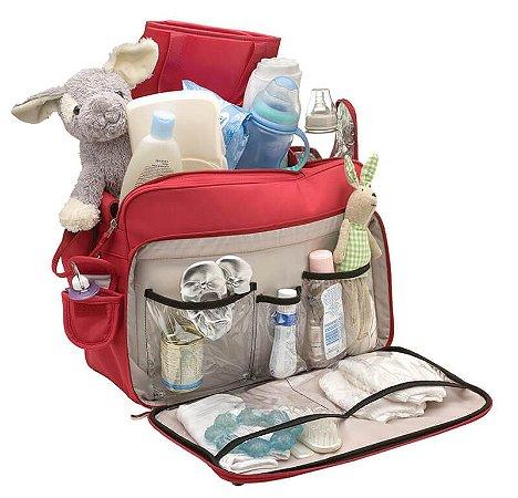 Bolsa Maternidade Infanti Multifuncional Deluxe Vermelha