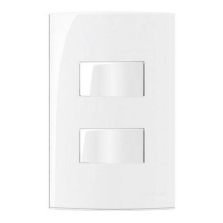 Conjunto MarGirius Sleek 2 Interruptores Simples separados 10A - 15825