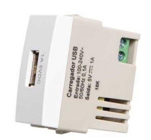 Tomada carregador USB 1A bivolt MarGirius Sleek - 16066