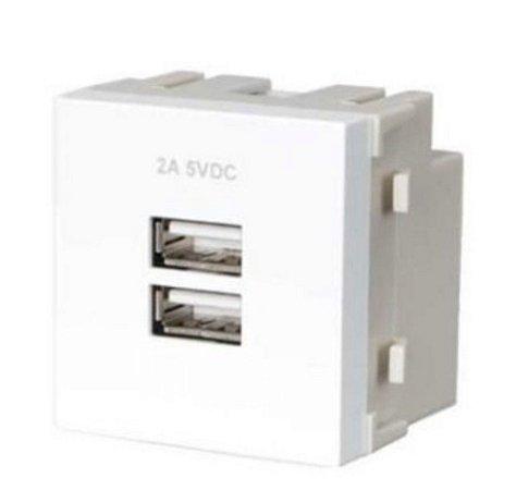 Tomada carregador USB duplo 2A bivolt MarGirius Sleek - 17693