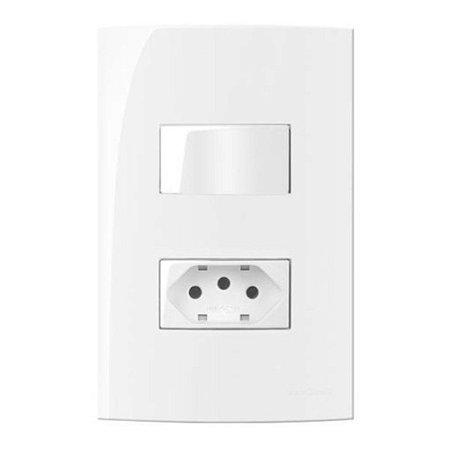 Conjunto MarGirius Sleek 1 Interruptor Simples + 1 Tomada 2P+T 20A - 15995