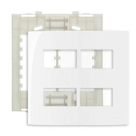 """Conjunto Placa 4x4"""" com 4 postos separados MarGirius Sleek + Suporte - 16019"""