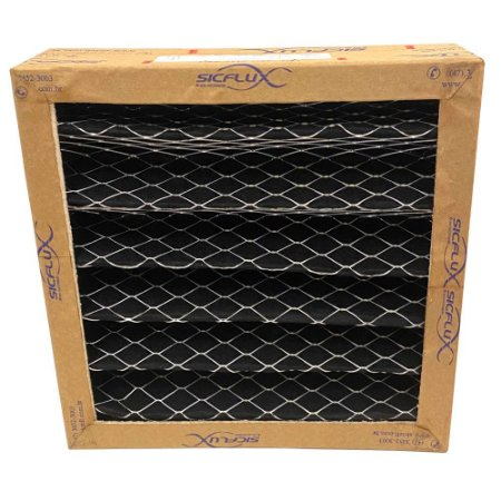Filtro quadrado 250mm Carvão Ativado plissado para Sicflux Filbox