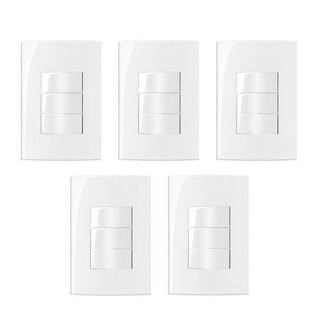 5 Conjuntos MarGirius Sleek 2 interruptores simples + 1 interruptor paralelo - 15819