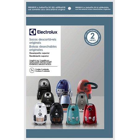 3 Sacos para Aspirador Electrolux Clario, Classic Silencer, Ultraone, Equipt, Powerforce, Airmaxx, Excellio - SWECL