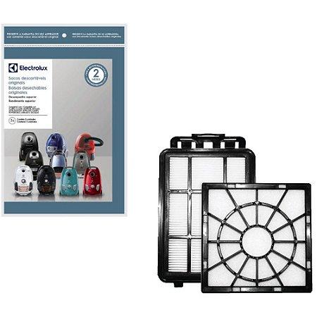 Kit Filtro + 3 Sacos para Aspirador de Pó Electrolux Equipt EQP10 e EQP20