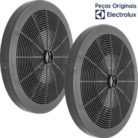 2 Filtros de Carvão Ativado para Depurador Electrolux DE60B DE60X DE80B DE80X