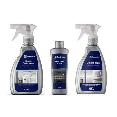 Kit Limpa Geladeira - 500ml + Limpa Forno - 200ml + Limpa Inox - 500 ml Electrolux