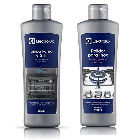 Kit Limpa Forno e Grill + Polidor para Inox Electrolux