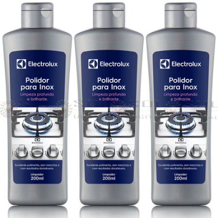 3 Polidor para Inox Electrolux - 200ml