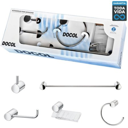 Kit de Acessórios para Banheiro Docol Single - 00183106
