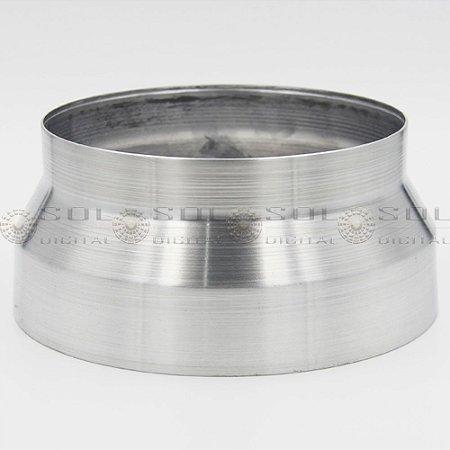Adaptador redutor de duto de 200 para 150mm - em alumínio