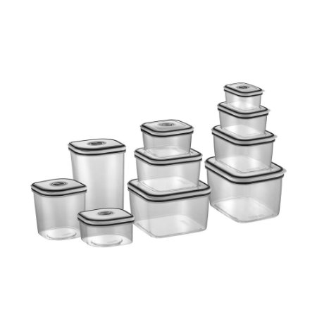 Kit Electrolux com 10 potes de fechamento hermético