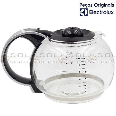 Jarra de Vidro 1,5 L Original para Cafeteira Electrolux CM300 com tampa preta