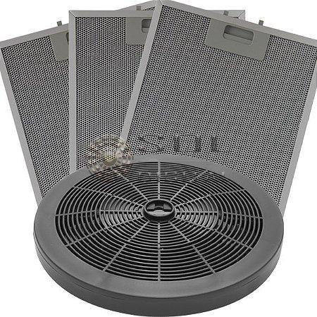 KIT Filtros Depuradores Electrolux 80cm (5 Bocas): Carvão e Metálicos