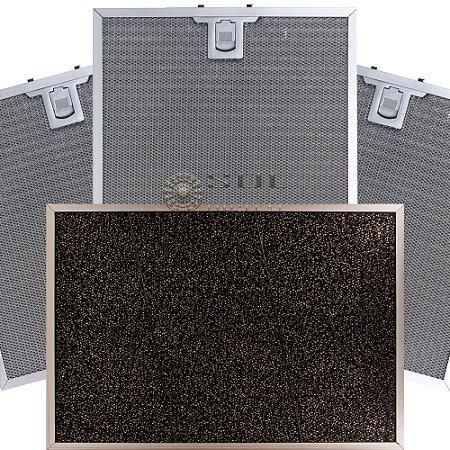 Kit Filtros para Coifa Electrolux HomePRO 90FS - Carvão e Metálico