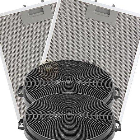 Kit Filtros para Coifa Electrolux 60CX - Carvão e Metálicos