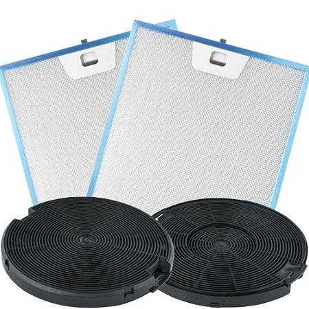 Kit Filtros para Coifa Franke Cartesio 60cm - Carvão e Metálicos