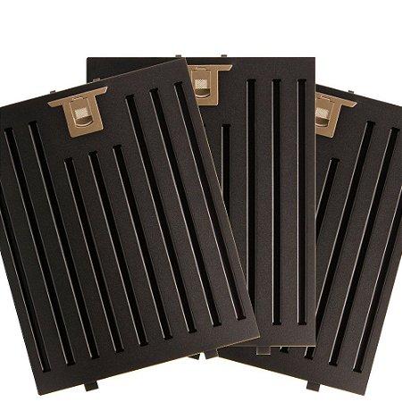 3 Filtros Metálicos para Coifa Preta Electrolux 90CTV