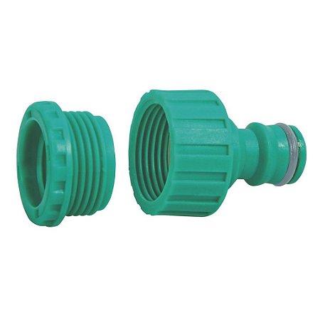Adaptador Fêmea Rosca 3/4 pol e Redução 1/2 pol em Plástico Tramontina - 78502000