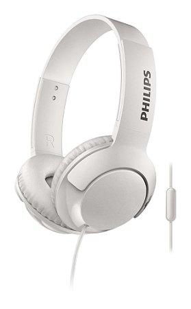 Headphone Philips SHL3075WT com Microfone Branco