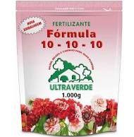 Fertilizante NPK 10-10-10 organo mineral 1kg  (com zip abre e fecha)