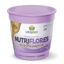 NUTRIFLORES PREMIUM - FERTILIZANTE MINERAL MISTO - 500 GR