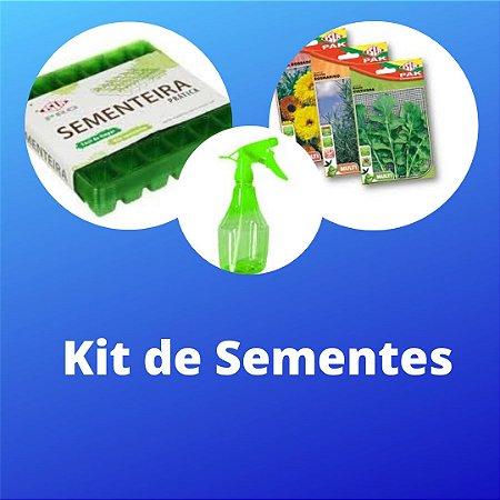 KIT DE SEMENTES - 1 SEMENTEIRA 36 CELULAS - 6 SEMENTES (LEGUMES) - 1 PULVERIZADOR 550ML