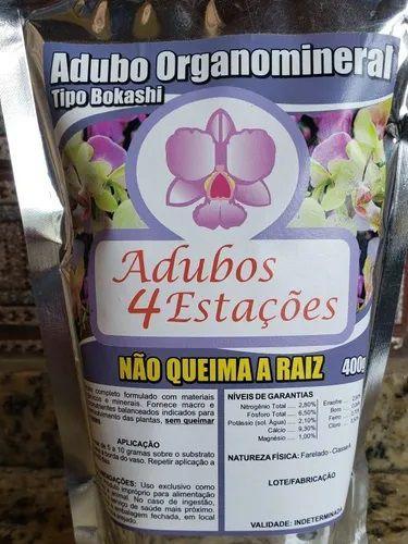 Adubo Organomineral  - Tipo Bokashi -  400g  - Não Queima a Raiz das Orquideas
