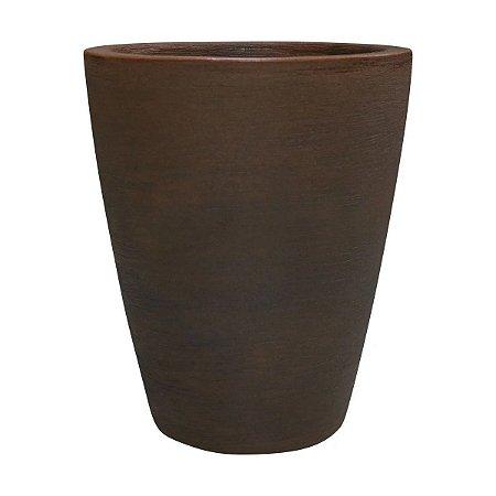 vaso de planta cone riscatto -  No 1 - cor ferrugem  (33,5X39,5)