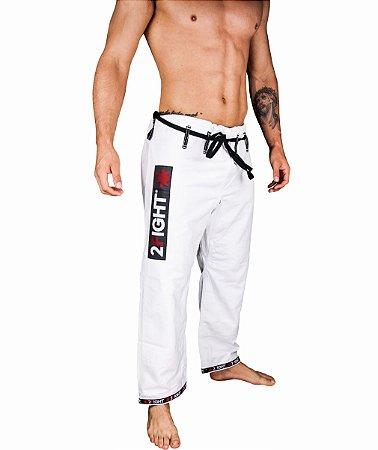 Calças BJJ de BRIM cor branco - linha SUPER