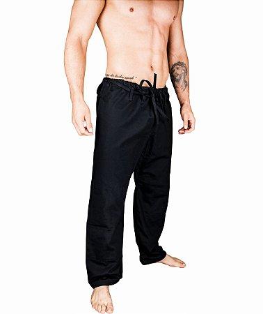 Calças BJJ de BRIM cor preto - linha TRADICIONAL