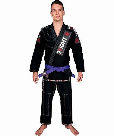 Kimono BJJ - linha SLIM cor Preto