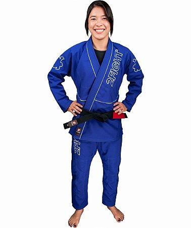 Kimono BJJ FEMININO - linha RIP STOP cor Azul