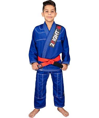 Kimono BJJ INFANTIL - linha Brim cor Azul