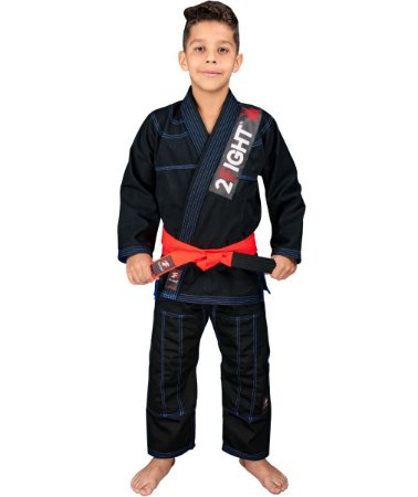 Kimono BJJ INFANTIL - linha Brim cor Preto