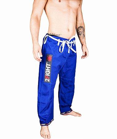 Calças BJJ de BRIM cor azul - linha SUPER
