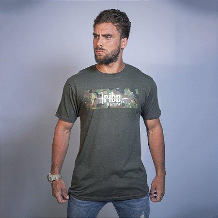 Camiseta Tribo Camuflada Verde