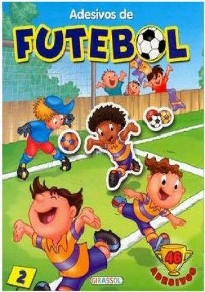 Livro com Adesivos De Futebol