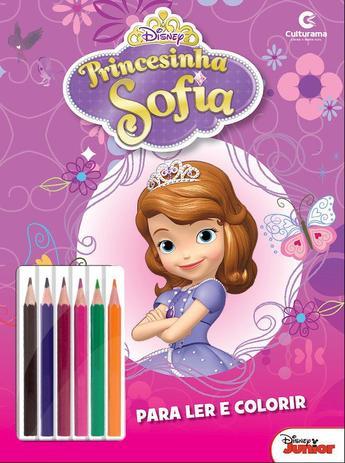 Livro para Colorir e Ler - Disney - Sofia com Lápis - Culturama